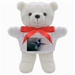Male Ruby Throated Hummingbird In Flight Teddy Bear