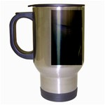 Male Ruby Throated Hummingbird In Flight Travel Mug (Silver Gray)