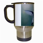 Male Ruby Throated Hummingbird In Flight Travel Mug (White)