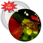 Butterfly 3  Button (10 pack)