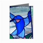 Hummingbird in Stainglass Mini Greeting Card