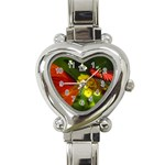 Butterfly Heart Italian Charm Watch