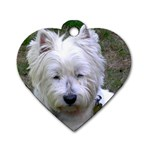 Westie Dog Tag Heart (One Side)