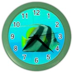 Butterfly Fish Color Wall Clock