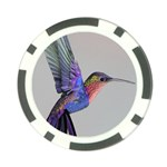 Hummingbird and Butterfly Poker Chip Card Guard