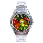 Butterfly Stainless Steel Analogue Men's Watch