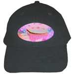 Cupcakes Covered In Sparkly Sugar Black Baseball Cap