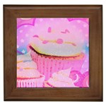 Cupcakes Covered In Sparkly Sugar Framed Ceramic Tile