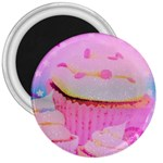 Cupcakes Covered In Sparkly Sugar 3  Button Magnet