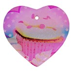 Cupcakes Covered In Sparkly Sugar Heart Ornament