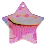 Cupcakes Covered In Sparkly Sugar Star Ornament