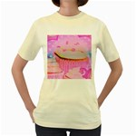 Cupcakes Covered In Sparkly Sugar Women s T-shirt (Yellow)