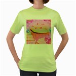 Cupcakes Covered In Sparkly Sugar Women s T-shirt (Green)
