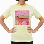 Cupcakes Covered In Sparkly Sugar Women s Ringer T-shirt (Colored)