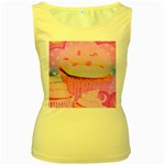 Cupcakes Covered In Sparkly Sugar Women s Tank Top (Yellow)