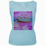 Cupcakes Covered In Sparkly Sugar Women s Tank Top (Baby Blue)