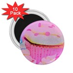 Cupcakes Covered In Sparkly Sugar 2.25  Button Magnet (10 pack)