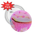 Cupcakes Covered In Sparkly Sugar 2.25  Button (100 pack)