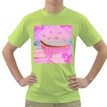 Cupcakes Covered In Sparkly Sugar Men s T-shirt (Green)
