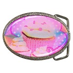 Cupcakes Covered In Sparkly Sugar Belt Buckle (Oval)