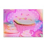 Cupcakes Covered In Sparkly Sugar A4 Sticker