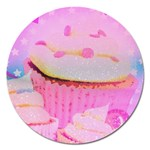 Cupcakes Covered In Sparkly Sugar Magnet 5  (Round)