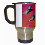 Two Hummingbirds in flight Travel Mug (White)
