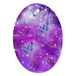 Starlight Of Butterflies Ornament (Oval)
