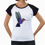 Rainbow Hummingbird Women s Cap Sleeve T