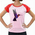 Rainbow Hummingbird Women s Cap Sleeve T-Shirt
