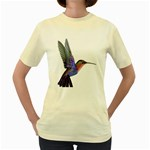 Rainbow Hummingbird Women s Yellow T-Shirt