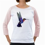 Hummingbird in Flight Girly Raglan