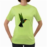 Rainbow Hummingbird Women s Green T-Shirt