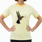 Rainbow Hummingbird Women s Fitted Ringer T-Shirt
