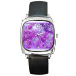 Rainbow Hummingbirds Square Metal Watch
