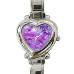 Rainbow Hummingbirds Heart Italian Charm Watch