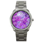 Rainbow Hummingbirds Sport Metal Watch