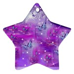 Rainbow Hummingbirds Star Ornament (Two Sides)