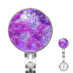 Starlight Of Butterflies Stainless Steel Nurses Watch