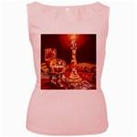 Bookworm Needlepoint Print Women s Tank Top (Pink)
