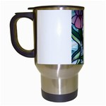 Hummingbird On Stain Glass Travel Mug (White)