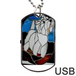 Westie stain glass Dog Tag USB Flash (One Side)