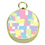 Mod Pastel Geometric Gold Compass
