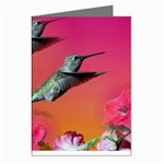 Two Hummingbirds in Flight Greeting Card