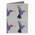 Red Throated Hummingbird In Flight Greeting Cards (Pkg of 8)