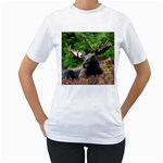 Majestic Moose Women s Two-sided T-shirt (White)