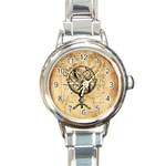 Discover The World Round Italian Charm Watch
