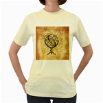 Discover The World Women s T-shirt (Yellow)