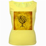 Discover The World Women s Tank Top (Yellow)