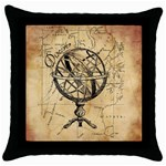 Discover The World Black Throw Pillow Case